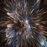 Ζωηρόχρωμο αφηρημένο κοσμικό υπόβαθρο γαλαξιών Λαμπρός κόσμος φαντασίας Βαθύς κόσμος Εξερεύνηση απείρου r διανυσματική απεικόνιση