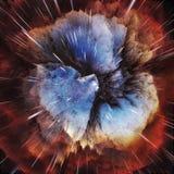 Ζωηρόχρωμο αφηρημένο κοσμικό υπόβαθρο γαλαξιών Λαμπρός κόσμος φαντασίας Βαθύς κόσμος Εξερεύνηση απείρου r απεικόνιση αποθεμάτων