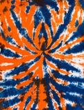 Ζωηρόχρωμο αφηρημένο μπλε και πορτοκάλι σχεδίου σχεδίων χρωστικών ουσιών δεσμών στοκ εικόνες