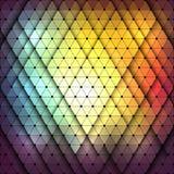 Ζωηρόχρωμο αφηρημένο πολύγωνο και γεωμετρικό υπόβαθρο Στοκ εικόνα με δικαίωμα ελεύθερης χρήσης