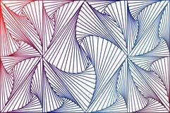 Ζωηρόχρωμο αφηρημένο τρισδιάστατο υπόβαθρο λωρίδων γραμμών στοκ εικόνα με δικαίωμα ελεύθερης χρήσης