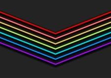 Ζωηρόχρωμο αφηρημένο υπόβαθρο βελών νέου ουράνιων τόξων απεικόνιση αποθεμάτων