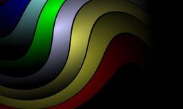 Ζωηρόχρωμο αφηρημένο υπόβαθρο κυμάτων, με την επίδραση φωτισμού, ομαλή, καμπύλη, διανυσματική απεικόνιση διανυσματική απεικόνιση