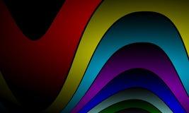 Ζωηρόχρωμο αφηρημένο υπόβαθρο κυμάτων, με την επίδραση φωτισμού, ομαλή, καμπύλη, διανυσματική απεικόνιση απεικόνιση αποθεμάτων
