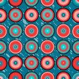 Ζωηρόχρωμο αφηρημένο υπόβαθρο σχεδίων κύκλων Στοκ Φωτογραφίες