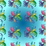 Ζωηρόχρωμο αφηρημένο floral σχέδιο υποβάθρου Στοκ Εικόνες