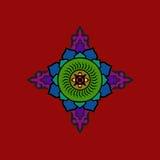 Ζωηρόχρωμο βουδιστικό mandala Εθνικός συμβολικός αριθμός απεικόνιση αποθεμάτων