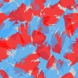 Ζωηρόχρωμο γεωμετρικό άνευ ραφής σχέδιο μελανιού grunge με συρμένα τα χέρι κτυπήματα βουρτσών ελεύθερη απεικόνιση δικαιώματος