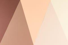 Ζωηρόχρωμο γεωμετρικό μπεζ, μαλακό και σκοτεινό υπόβαθρο καφετιού εγγράφου Στοκ Εικόνα