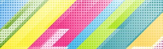 Ζωηρόχρωμο γεωμετρικό σχέδιο εμβλημάτων τεχνολογίας αφηρημένο διανυσματική απεικόνιση