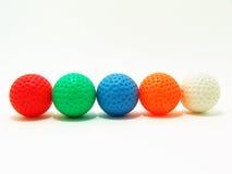 ζωηρόχρωμο γκολφ σφαιρών Στοκ Εικόνες