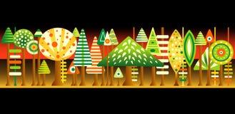 ζωηρόχρωμο δέντρο απεικόν&iota Στοκ φωτογραφία με δικαίωμα ελεύθερης χρήσης