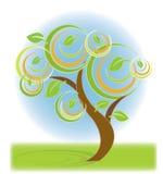 ζωηρόχρωμο δέντρο Διανυσματική απεικόνιση