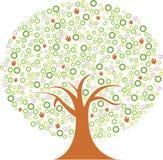 ζωηρόχρωμο δέντρο Στοκ εικόνες με δικαίωμα ελεύθερης χρήσης