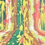ζωηρόχρωμο δημιουργικό δάσος ανασκόπησης Στοκ Φωτογραφίες