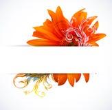 ζωηρόχρωμο δημιουργικό λουλούδι ανασκόπησης διανυσματική απεικόνιση