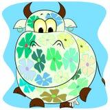 ζωηρόχρωμο διάνυσμα κινούμενων σχεδίων αγελάδων Στοκ φωτογραφίες με δικαίωμα ελεύθερης χρήσης