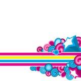 ζωηρόχρωμο διακοσμητικό &si Διανυσματική απεικόνιση