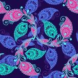 Ζωηρόχρωμο διανυσματικό άνευ ραφής σχέδιο ύφους του Paisley Διακοσμητικό ornam Στοκ Εικόνες