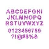 Ζωηρόχρωμο διανυσματικό αλφάβητο φιαγμένο από εικονοκύτταρα Στοκ εικόνες με δικαίωμα ελεύθερης χρήσης