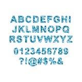 Ζωηρόχρωμο διανυσματικό αλφάβητο φιαγμένο από εικονοκύτταρα Στοκ εικόνα με δικαίωμα ελεύθερης χρήσης