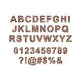 Ζωηρόχρωμο διανυσματικό αλφάβητο φιαγμένο από εικονοκύτταρα Στοκ Εικόνα