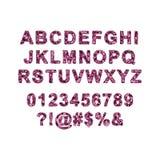 Ζωηρόχρωμο διανυσματικό αλφάβητο φιαγμένο από εικονοκύτταρα Στοκ φωτογραφία με δικαίωμα ελεύθερης χρήσης