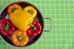 ζωηρόχρωμο δοχείο πιπεριών κουδουνιών Στοκ εικόνες με δικαίωμα ελεύθερης χρήσης