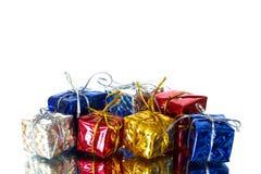 ζωηρόχρωμο δώρο κιβωτίων Στοκ φωτογραφία με δικαίωμα ελεύθερης χρήσης