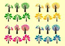 Ζωηρόχρωμο εικονίδιο δέντρων Στοκ εικόνες με δικαίωμα ελεύθερης χρήσης