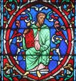 Ζωηρόχρωμο λεκιασμένο παράθυρο γυαλιού στον καθεδρικό ναό Παναγία των Παρισίων Στοκ εικόνες με δικαίωμα ελεύθερης χρήσης