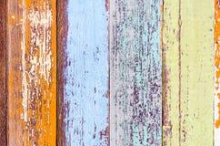 Ζωηρόχρωμο εκλεκτής ποιότητας ξύλινο υλικό υπόβαθρο τοπ άποψης Στοκ Εικόνα