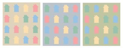 Ζωηρόχρωμο επίπεδο σχέδιο σπιτιών Στοκ φωτογραφίες με δικαίωμα ελεύθερης χρήσης