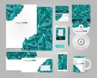 Ζωηρόχρωμο εταιρικό σχέδιο προτύπων ταυτότητας Στοκ Εικόνα
