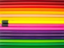 ζωηρόχρωμο λευκό μολυβιών ανασκόπησης Στοκ εικόνα με δικαίωμα ελεύθερης χρήσης