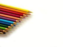 ζωηρόχρωμο λευκό μολυβιών ανασκόπησης Στοκ Φωτογραφίες