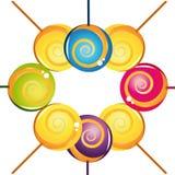 ζωηρόχρωμο εύγευστο lollipop σ&u Στοκ εικόνα με δικαίωμα ελεύθερης χρήσης