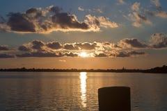 Ζωηρόχρωμο ηλιοβασίλεμα στους Florida Keys Στοκ φωτογραφία με δικαίωμα ελεύθερης χρήσης