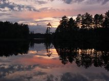 ζωηρόχρωμο ηλιοβασίλεμα Στοκ Φωτογραφία