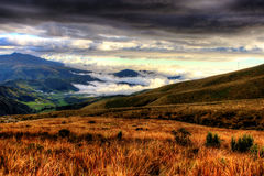 Ζωηρόχρωμο ηφαίστειο Pichincha rucu, Ισημερινός Στοκ εικόνες με δικαίωμα ελεύθερης χρήσης