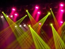 Ζωηρόχρωμο ηλεκτρονικό σκηνικό φως Στοκ Φωτογραφία