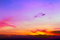 ζωηρόχρωμο ηλιοβασίλεμα ανασκόπησης Στοκ φωτογραφία με δικαίωμα ελεύθερης χρήσης
