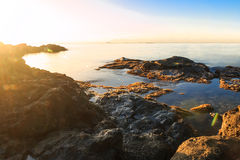 Ζωηρόχρωμο ηλιοβασίλεμα πέρα από τη Μεσόγειο Στοκ εικόνες με δικαίωμα ελεύθερης χρήσης