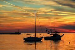 ζωηρόχρωμο ηλιοβασίλεμα Στοκ Εικόνα