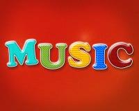 Ζωηρόχρωμο θέμα μουσικής Στοκ Εικόνες
