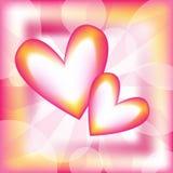ζωηρόχρωμο διάνυσμα καρδ&io Στοκ φωτογραφίες με δικαίωμα ελεύθερης χρήσης