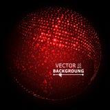 Ζωηρόχρωμο διάνυσμα σύνθεσης σφαιρών abstract background glowing Στοκ Εικόνα