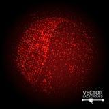 Ζωηρόχρωμο διάνυσμα σύνθεσης σφαιρών abstract background glowing Στοκ Φωτογραφίες