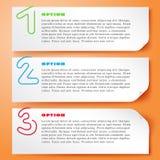 Ζωηρόχρωμο διανυσματικό πρότυπο επιλογών Paperclip ελεύθερη απεικόνιση δικαιώματος