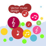 Ζωηρόχρωμο διανυσματικό σχέδιο μουσικής Στοκ εικόνα με δικαίωμα ελεύθερης χρήσης